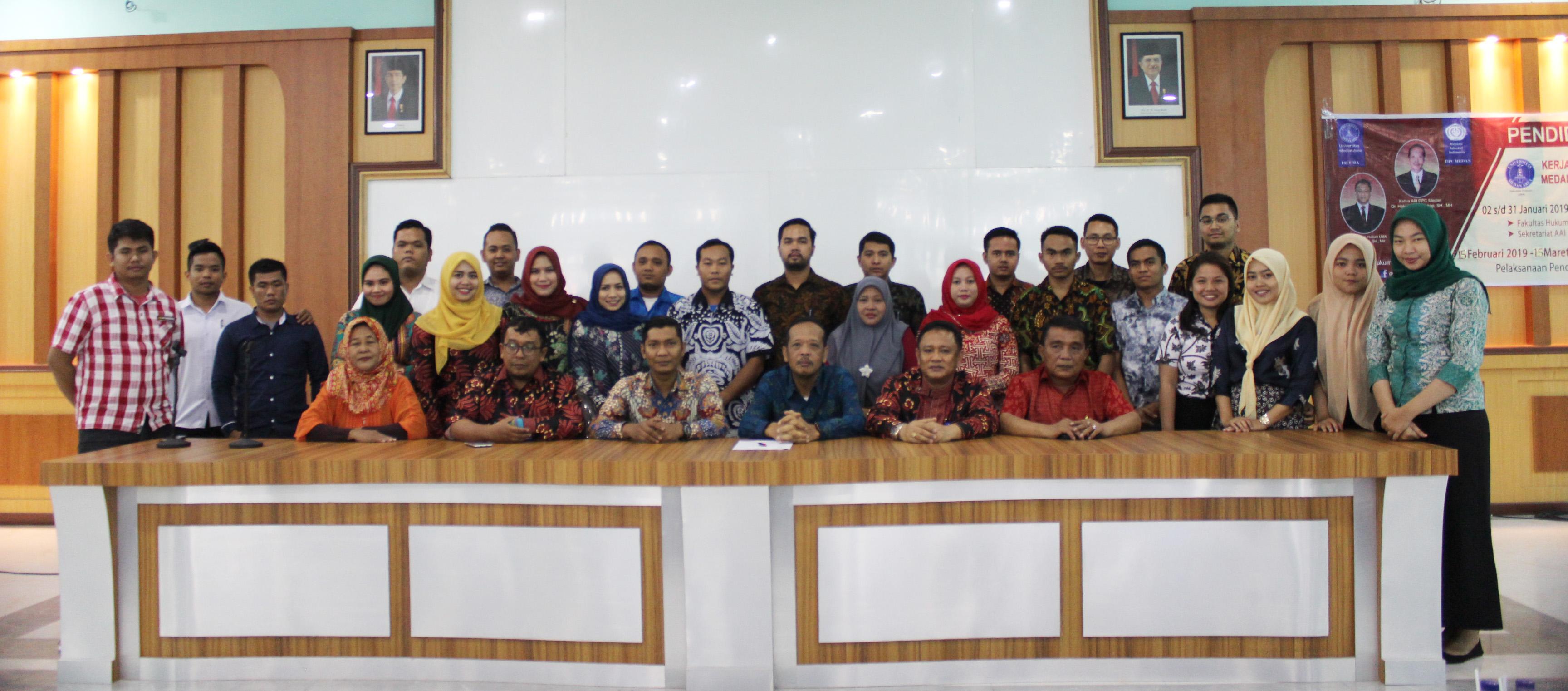 Kegiatan Penutupan Pendidikan Profesi Advokat (PPA) Fakultas Hukum dengan Asosiasi Advokat Indonesia (AAI)