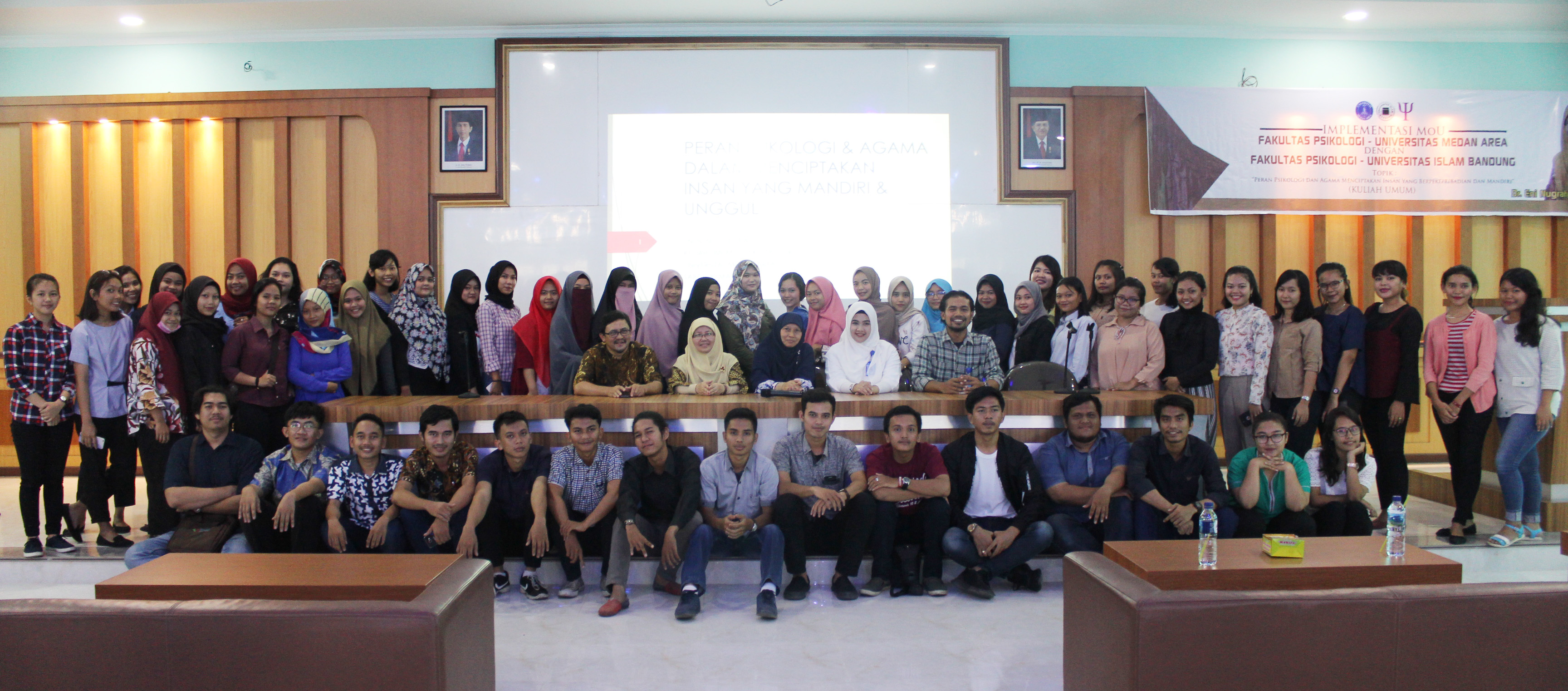 General Lecture In The Faculty Of Psychology With The Theme Of The Role Of Psychology And Religion Creating Individuals With Personality And Independence Kampus Terbaik Di Sumut