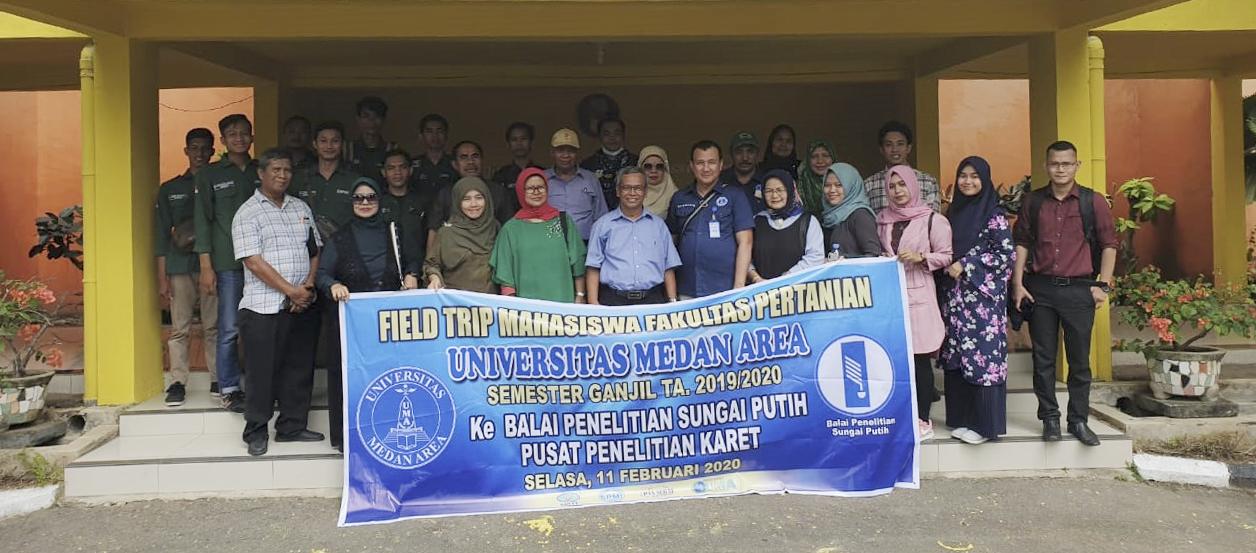 Field Trip dan Sosialisasi Program Studi Ilmu Pertanian Program Doktor Ke Balai Penelitian Sungei Putih Pusat Penelitian Karet
