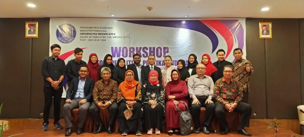 Pelaksanaan Workshop Metode Penelitian, Publikasi Jurnal, dan Produk Hasil Tesis Magister Psikologi Pascasarjana Universitas Medan Area