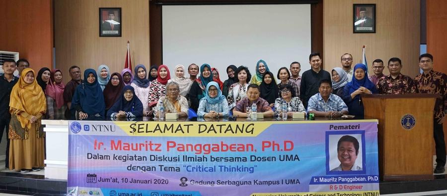 Diskusi Ilmiah Bagi Para Dosen Di Lingkungan Universitas Medan Area dengan Tema Critical Thinking