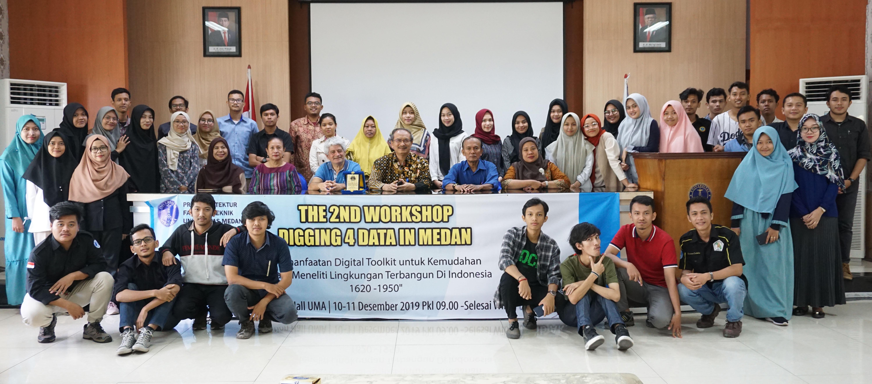 Fakultas Teknik Prodi Arsitektur Universitas Medan Area mengadakan Workshop THE 2ND WORKSHOP DIGGING 4 DATA IN MEDAN