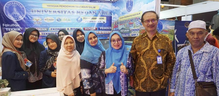 Kunjungan Rektor UMA Acara Pekan Pendidikan Tinggi Sumatera Utara 2020