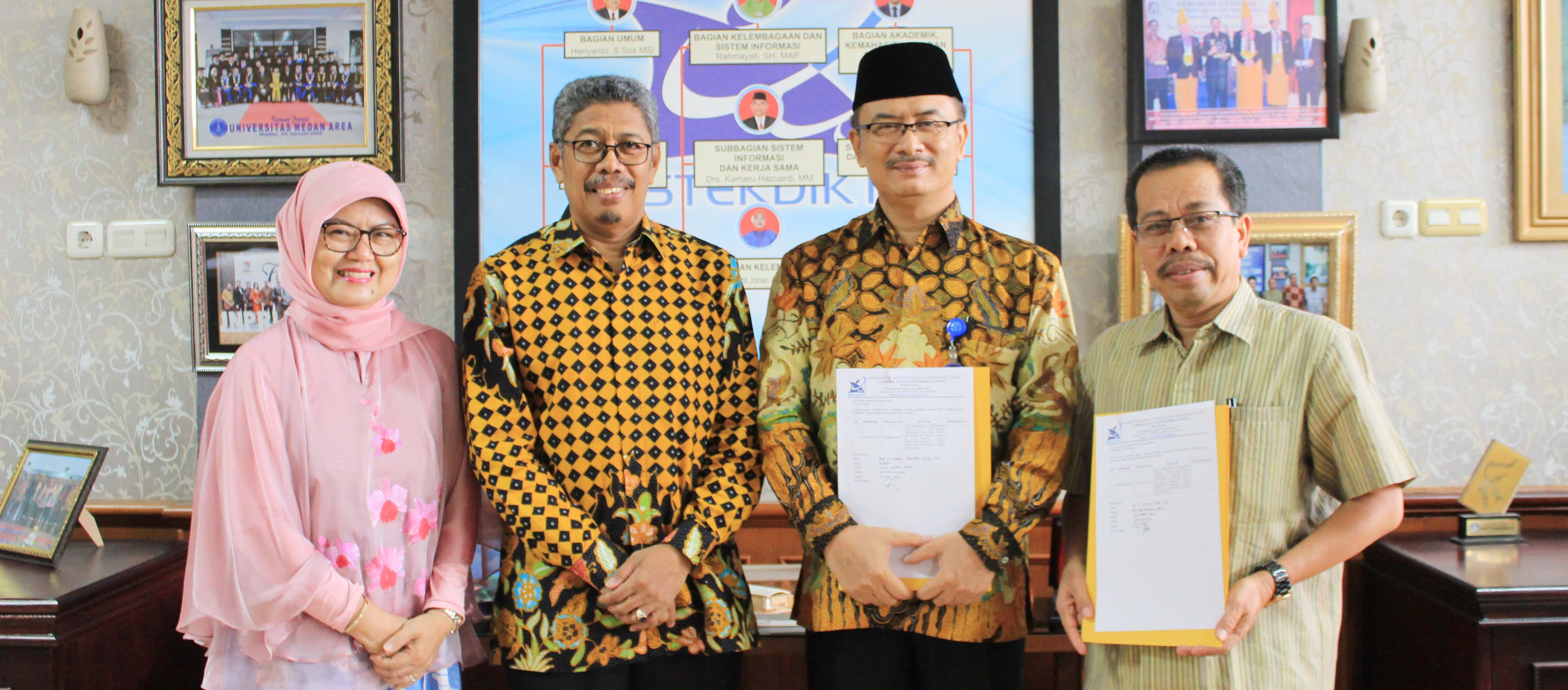 Serah Terima Izin Pembukaan Program Doctor Ilmu Pertanian S3 Universitas Medan Area